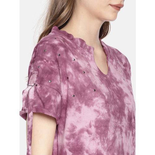 Roadster Women Purple Dyed Top