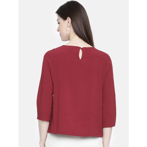 all about you from Deepika Padukone Women Maroon Embellished Regular Top