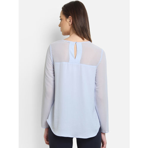 COVER STORY Women Blue Solid A-Line Top