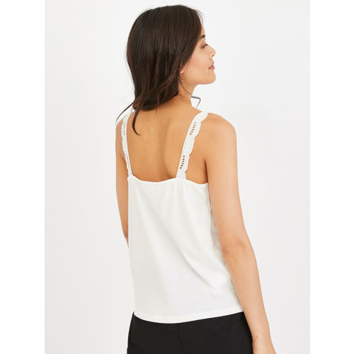 promod Women White Solid Top