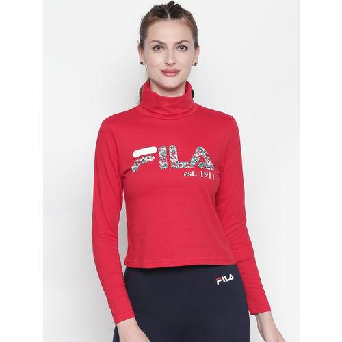 FILA Women Red Printed TRINITY Top