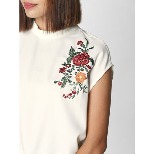 Vero Moda Women White Self Design Top