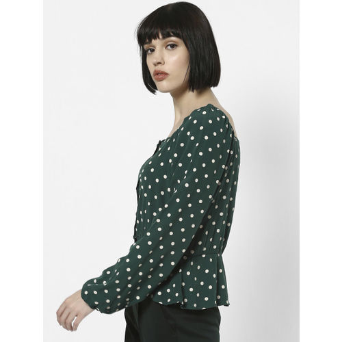 ONLY Women Green Printed Top