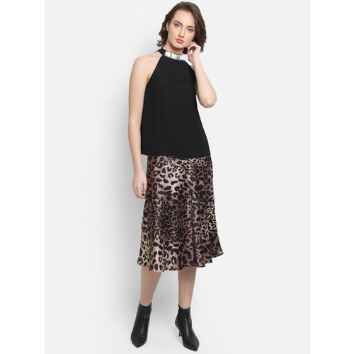 COVER STORY Women Black Embellished A-Line Top