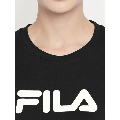 FILA Women Black Printed ALYX Crop Top