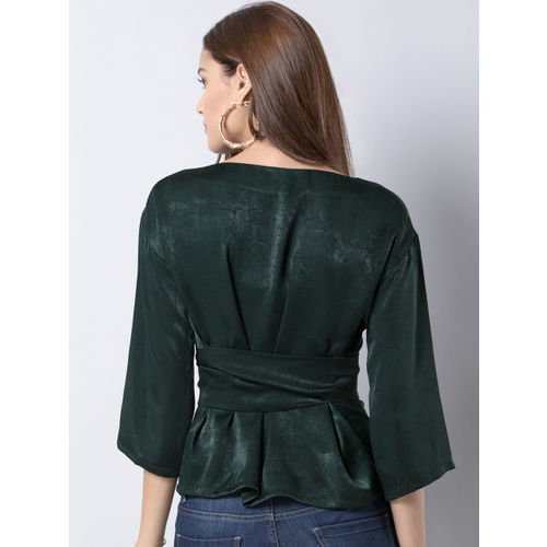 FabAlley Women Green Printed Top