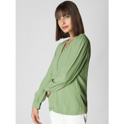 Vero Moda Women Green Solid Top