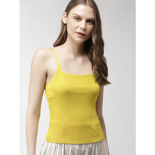 FOREVER 21 Women Mustard Yellow Solid Top