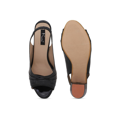 Kielz Women Black Solid Heels