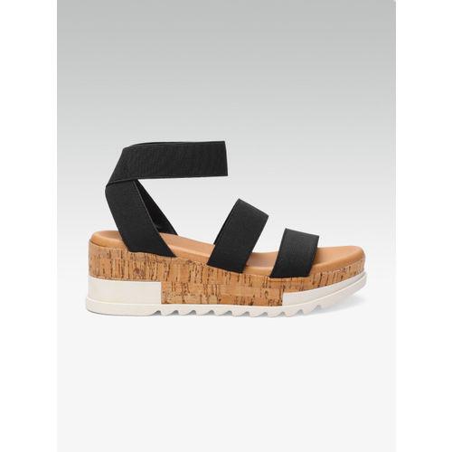 Steve Madden Women Black Solid Sandals