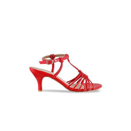Metro Women Red Solid Sandals