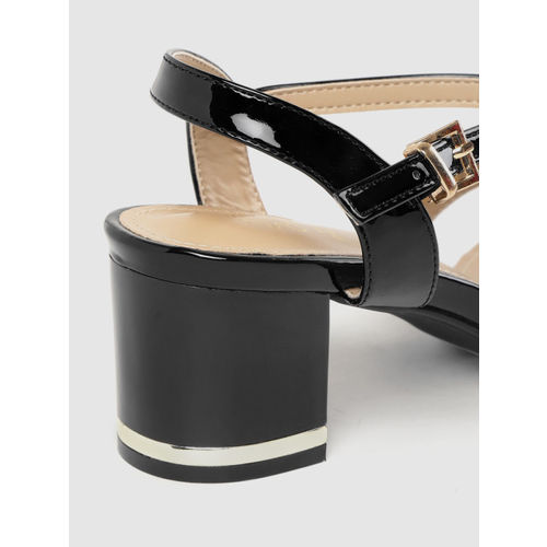 Tresmode Women Black Solid Block Heels