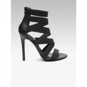 Steve Madden Women Black Mid-Top Solid Gladiators