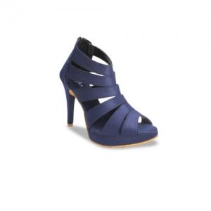 VALIOSAA Women Navy Blue Solid Peep Toes