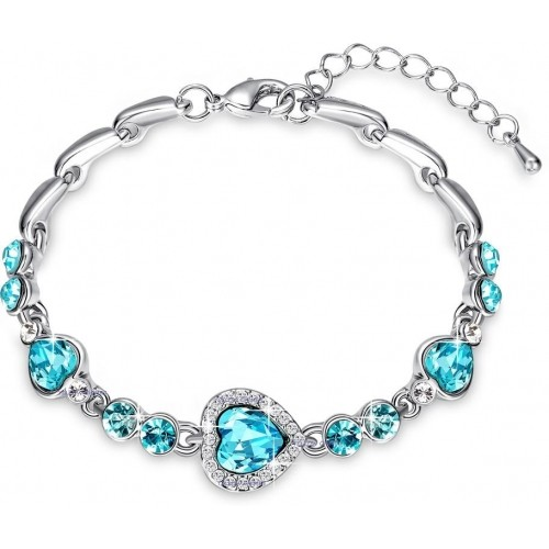 Yellow Chimes Blue Metal Bracelet for Women
