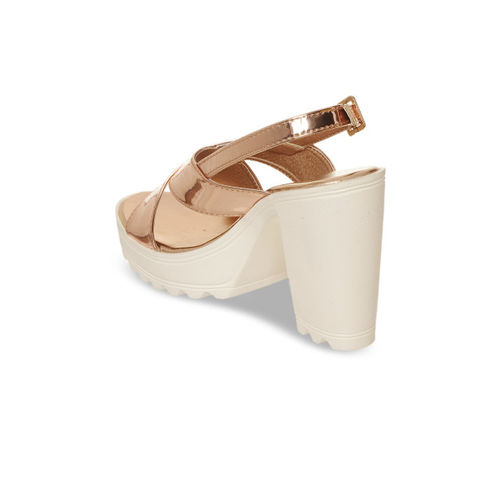 Bruno Manetti Women Rose Gold Solid Heels
