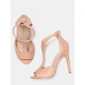 all about you from Deepika Padukone Women Peach-Coloured Solid Stilettos