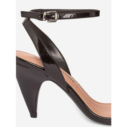 DOROTHY PERKINS Women Black Solid Cone Heels
