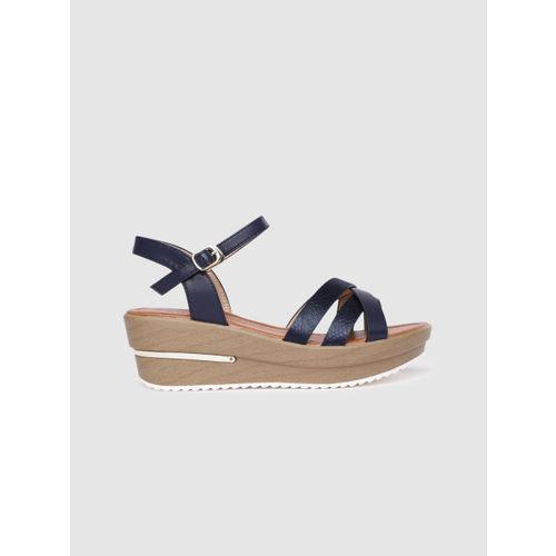 CERIZ Women Navy Blue Solid Heels