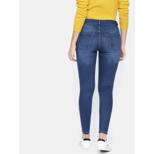 Ms.Taken Women Blue Skinny Fit Mid-Rise Clean Look Stretchable Jeans