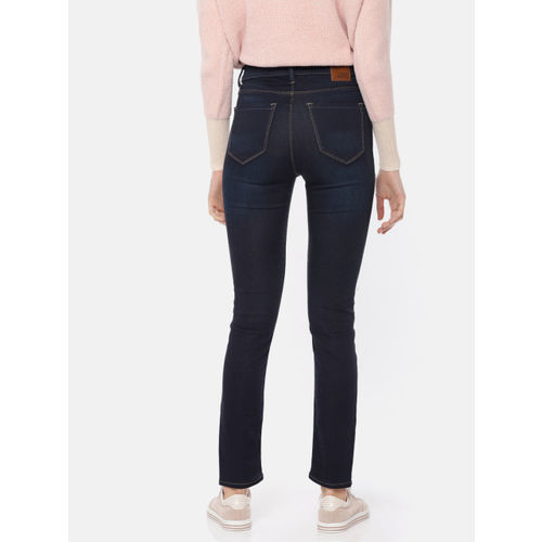 Moda Rapido Women Blue Skinny Fit High-Rise Clean Look Stretchable Cropped Jeans