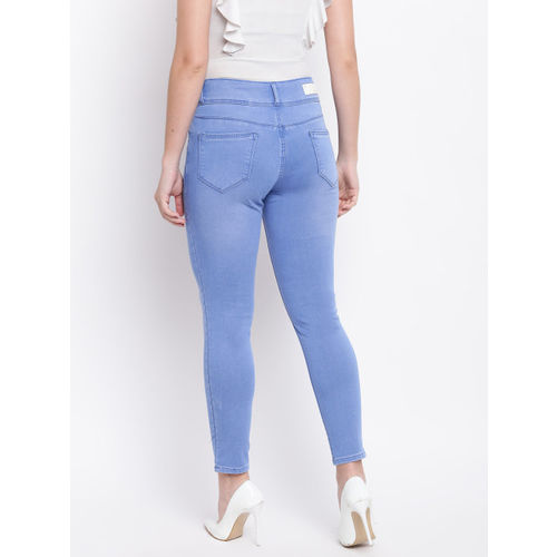 Kraus Jeans Women Blue Skinny Fit High-Rise Clean Look Stretchable Jeans
