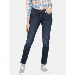 Wrangler Women Blue Coryn Fit Mid-Rise Clean Look Stretchable Cropped Jeans