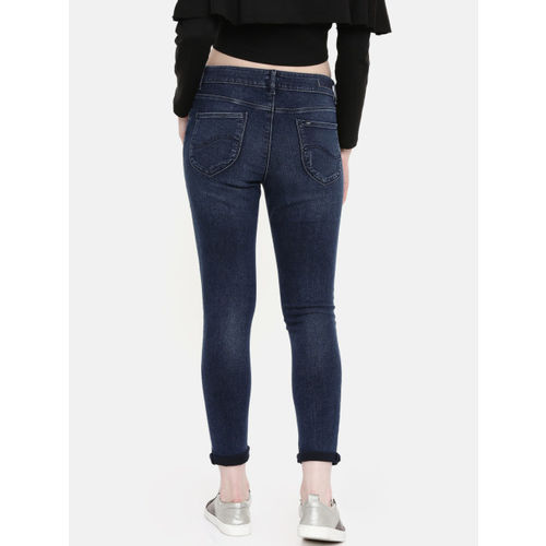 Lee Women Blue Holly-A Skinny Fit High-Rise Clean Look Stretchable Jeans