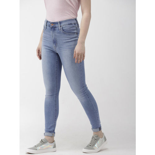 Levis Women Blue Mile High Super Skinny Fit High-Rise Clean Look Stretchable Jeans