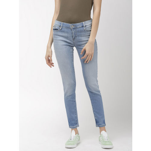 GAS Women Blue Star Skinny Fit Mid-Rise Clean Look Stretchable Jeans