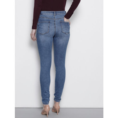 DOROTHY PERKINS Women Blue High Stretch Skinny Fit Clean Look Jeans