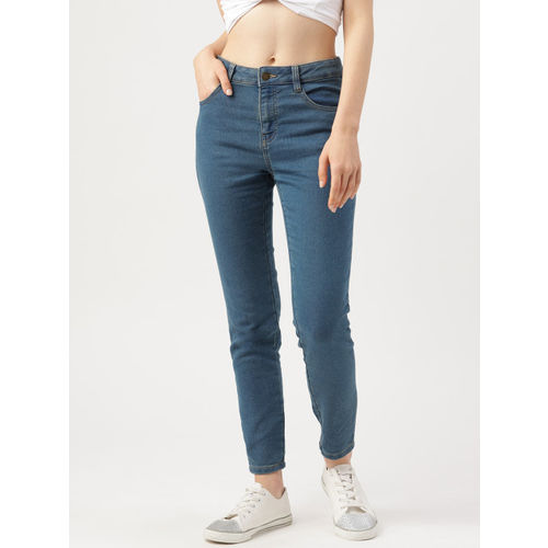 DressBerry Women Blue Skinny Fit Mid-Rise Clean Look Stretchable Jeans