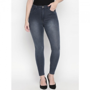 PURPLE WATER Women Grey Slim Fit High-Rise Clean Look Stretchable Jeans