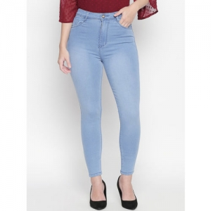PURPLE WATER Women Blue Slim Fit High-Rise Clean Look Stretchable Jeans