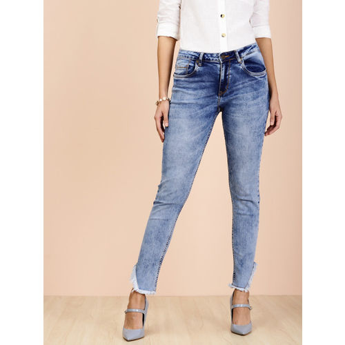 all about you Women Blue Regular Fit Mid-Rise Clean Look Stretchable Jeans