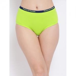 Clovia Women Green Solid Hipster Briefs PN3313P11XL