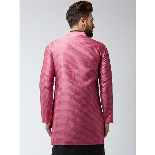 Sojanya Men Pink Self Designed Sherwani Jacket
