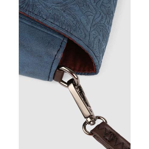 Caprese Blue Textured Sling Bag
