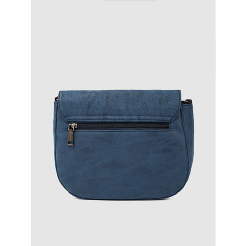 Caprese Blue Textured Sling Bag