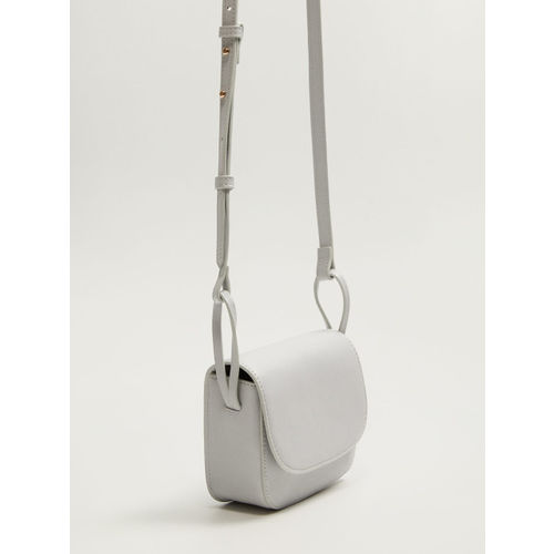 MANGO Grey Solid Sling Bag