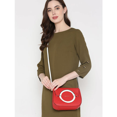 United Colors of Benetton Red Solid Sling Bag