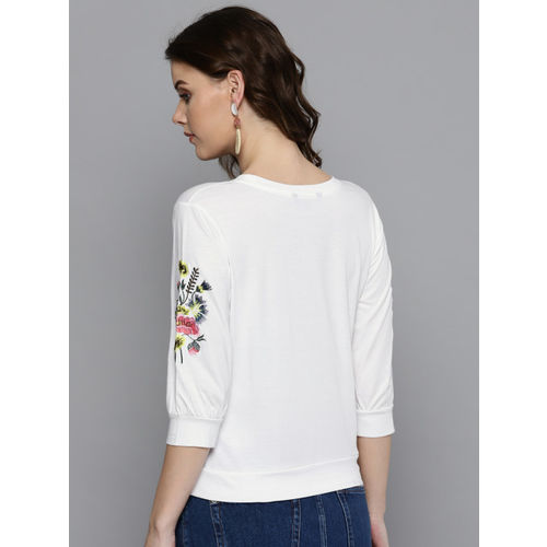 Harpa Women White Solid Top