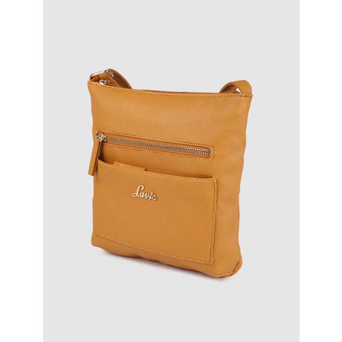 Lavie Yellow Textured Sling Bag