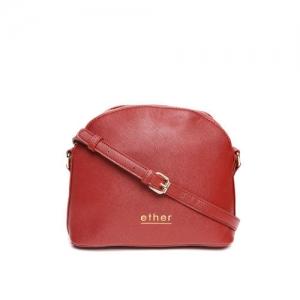 ether Red Solid Sling Bag
