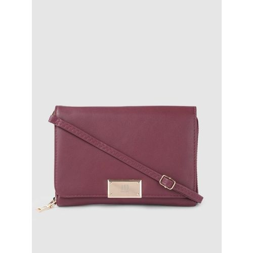 AND Burgundy Solid Sling Bag