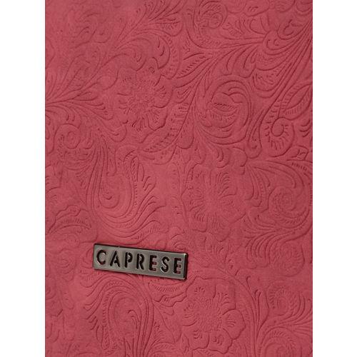 Caprese Light Maroon Textured Sling Bag