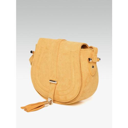 DOROTHY PERKINS Mustard Yellow Solid Sling Bag