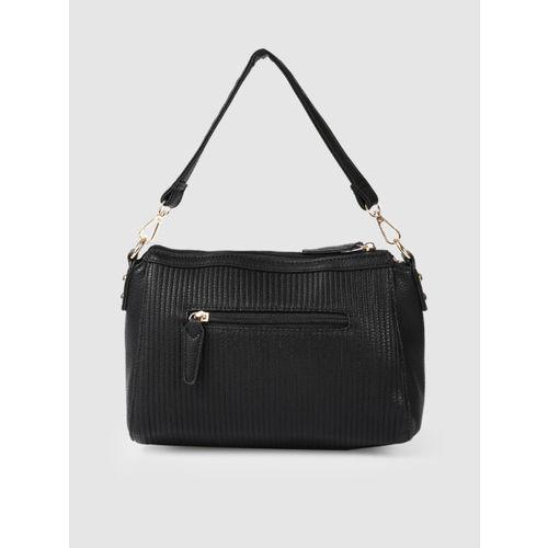 E2O Black Textured Sling Bag