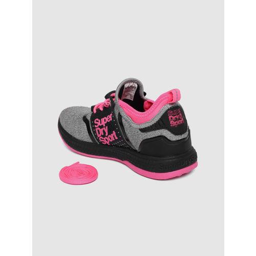Superdry Women Grey & Pink WINDSPRINTER Running Shoes