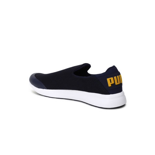 Puma Unisex Navy Blue Mesh Propel Slip on IDP Running Shoes